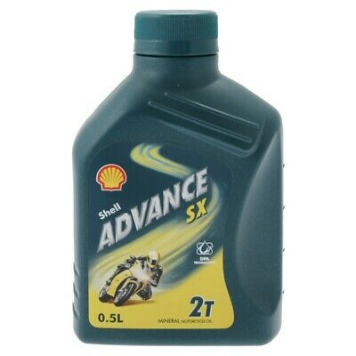Shell Advance SX 2T 2-Stroke Two-Stroke Mineral Motorcycle Engine Oil 1 Litre 1L