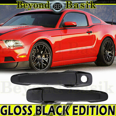 2005 06 07 08 09 10 11 12 13 2014 FORD Mustang GLOSS BLACK Door Handle COVERS
