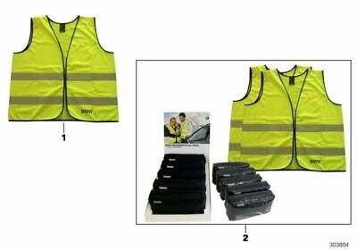 Genuine BMW  Reflective Safety High Visibility Vest Yellow 2 Pc Set 82262288693
