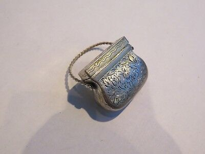 Rare Georgian Silver Purse Vinaigrette 1826