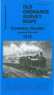 Old Ordnance Survey Map Coventry South Stivichall 1912 Whitley Common