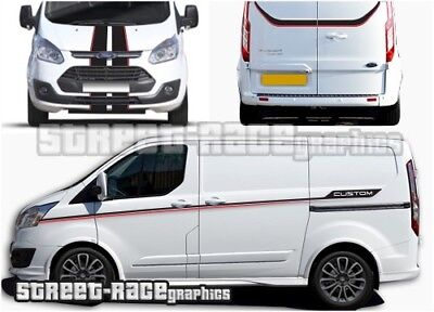 Ford Transit CUSTOM full 017 racing stripes graphics stickers decals RS Edition