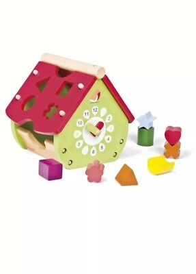 Janod Wooden Garden House Shape Sorter for Baby / Toddlers 18 Months +