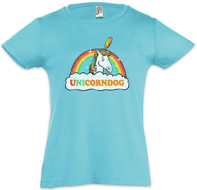 Unicorndog Kids Girls T-Shirt Rainbow Fun Fairies Princess Fairytale Unicorn