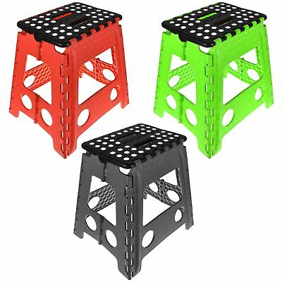 Red Green Black Step Stool Foldable Seat Home Kitchen Easy Storage Multi Purpose