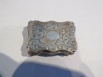 Victorian Silver Vinaigrette 1843 Smith