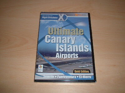 ✈️ FSX ULTIMATE Canary Islands Gold ~ Flight Simulator X Fsx Add-On **new**