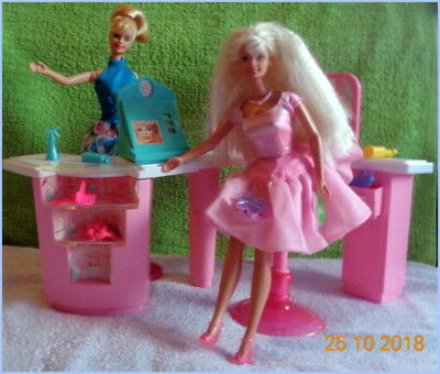 Barbie Twirlin´ Make Up & Cosmetic Counter Playset 1997 Mattel + Barbie   Rar