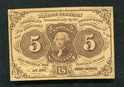 Fr. 1230 5 Five Cents First Issue Fractional Currency Note Extremely Fine (B)