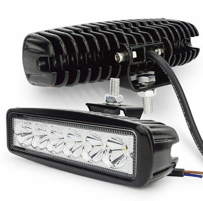 18W 6LED 800LM Bright Light Spot Work Bar Driving Fog Offroad Car Lamp For Truck