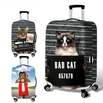 Travel Suitcase Luggage Cover Cat Baggage Dust Protection Elastic Case