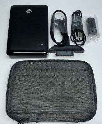"Seagate ""Goflex Satellite"" 500 GB Wreless Hard Drive W/ Charger USB 3.0"