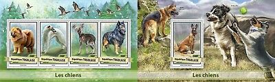 Z08 Imperforated TG17105ab Togo 2017 Dogs MNH Mint