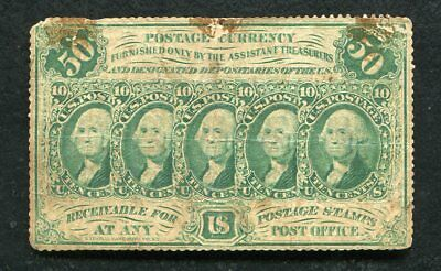 """Fr. 1311 50 Fifty Cents First Issue Fractional Currency Note """"Perforated Edges"""""""