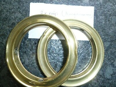 Genuine Antique 3-Way Connecting Rings x 2 for an old Brass Bed 120mm. ext.