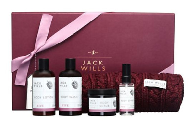 Jack Wills Ultimate Scarf & Toiletries Christmas Gift Set Boxed For Her U.K