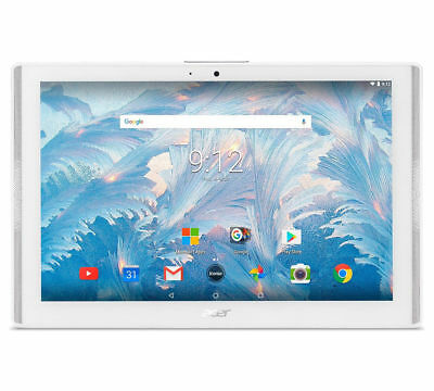 """Acer Iconia One  10"""" Tablet Marble White 2GB 16GB Quad Core 1.3GHz Android 7.0"""