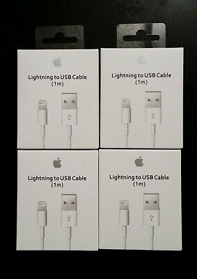 4x New Original OEM Apple Lightning to USB Charge Cable for iPhone 5 6s 7 8 X