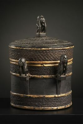 Superb Iban Dayak Shaman's Box, Borneo - very good provenance