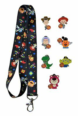 Toy Story Lanyard and 7 Disney Park Trading Pins Starter Set ~ Brand NEW