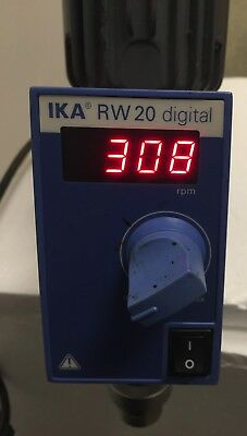 Used IKA Digital Overhead Stirrer RW 20 D S1