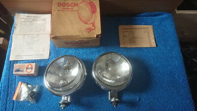 Vintage Bosch nipple  chrome driving light Porsche 356 VW Beetle Bus