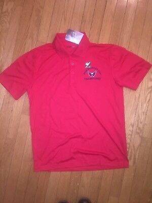 NHL Washington Capitals 2018 Stanley Cup Champions Red Polo Shirt. Medium! 2bf06c51c
