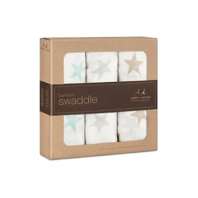 Aden + Anais 3 Pack Bamboo Swaddle Milky Way