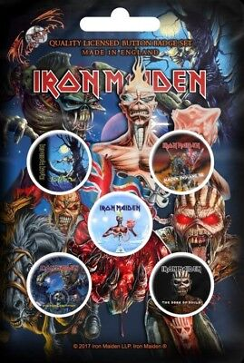 Iron Maiden - Later Albums (New) (Gift) Badge Pack Official Band Merch
