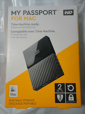 Wd My Passport 2Tb For Mac Portable Storage Hard Drive Brand New,factory Sealed