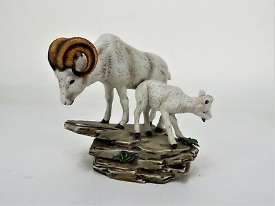 Homco 1984 Masterpiece Porcelain Ram and Baby