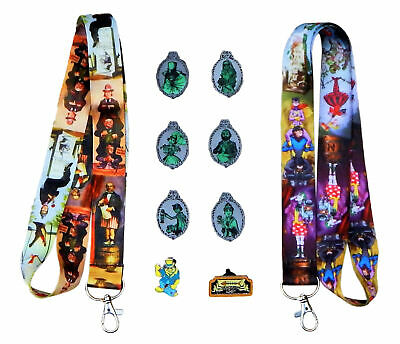 Haunted Mansion Starter Lanyard Set with 5 Disney Trading Park Pins ~ Brand NEW