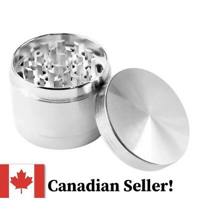 Grinder High Quality Alloy Silver Tobacco Herb 4 Layer Tobacco Grinder Crusher