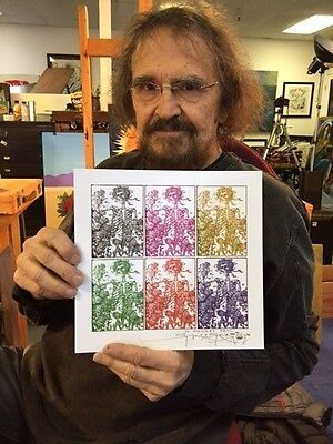 BLOTTER ART SIGNED Stanley Mouse Grateful Dead 6 Panel Birtha Perforated Sheet