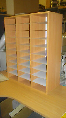 New Pigeonhole Mail Sorter*30 Compartments*Flyer*Brochure*Shoe Rack Shelf Paper