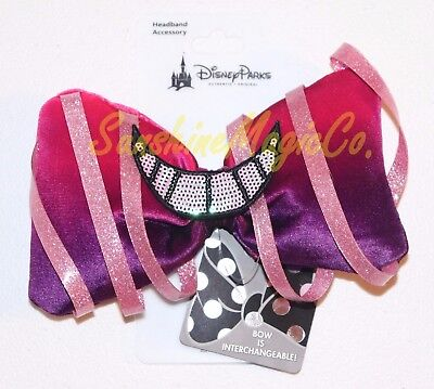 Disney Alice Wonderland Cheshire Cat Interchangeable Swap Your Bow