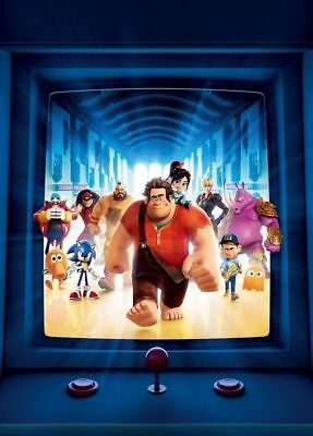 Y-1339 Wreck-It Ralph 2018 Movie 27x40 24x36 Hot Poster Animated Film