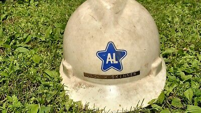Rare Vintage Authentic Allegheny Ludlum Steel V-Gard Helmet Pittsburgh Pa