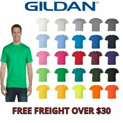 Gildan DryBlend 50/50 Short Sleeves Men's T-Shirt 8000 S-5XL PreShrunk Unisex