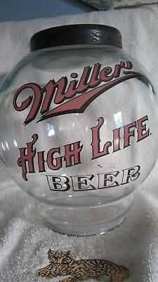 Vintage Mille High Life beer peanut globe dispenser