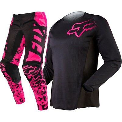 Fox Racing NEW Ladies Mx 180 Pink Black Motocross Dirt Bike Womens Gear Set