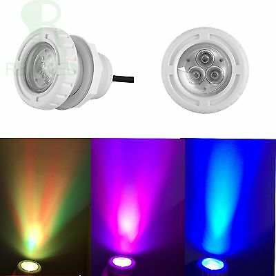 6W led swimming pool lights spa RGB Color For 2 inch Wall Fittings 12VAC CE IP68