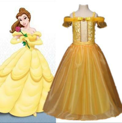 Beauty And The Beast Belle Costume Kids Girls Cosplay Fancy Dress 3