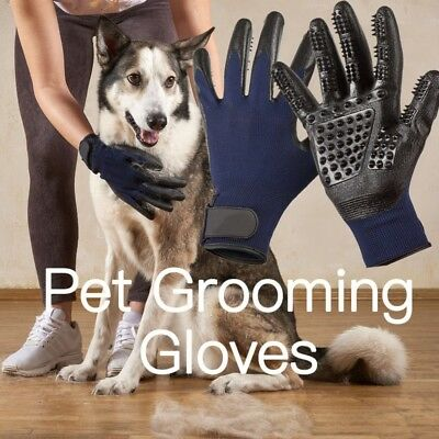 Pet Grooming Glove Brush Dog Cat Dirt Hair Fur Removal Remover Bathing Brush