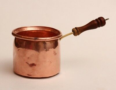 Antique Primative Copper/Brass Hand Forged Small Pot ~ Candy Melting ~ Hand Craf