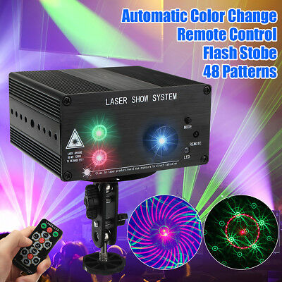 48 Pattern Laser Projector Stage Lights Effect RGB  Lighting Party DJ Disco MY