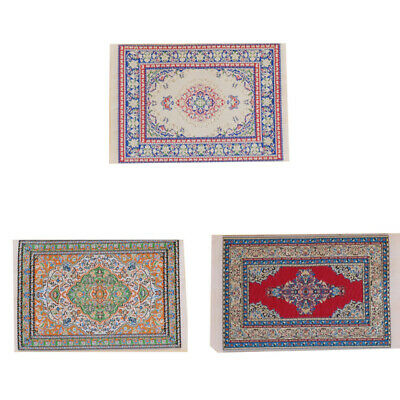 1/12 Dollhouse Miniature Carpet toy Furniture Doll House Thread Rug Decor Supply