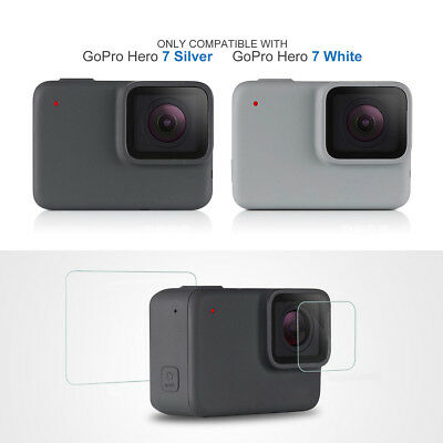 9H Tempered Glass Screen   Lens Protector Film for GoPro Hero 7 White/Silver USA
