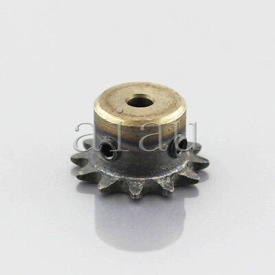 5/6/8/10/12mm Bore 04C12Teeth Metal Pilot Motor Gear Roller Chain Drive Sprocket