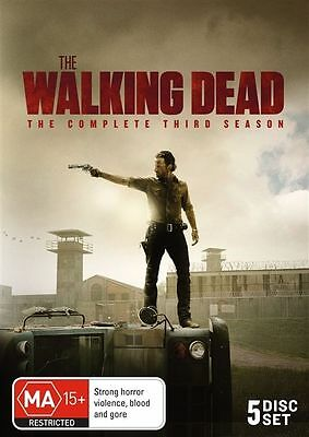 The Walking Dead Season 3 DVD 2013 5-Disc Set Brand New Sealed